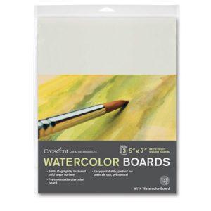 114 Watercolor Board 3-Pack