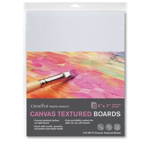 Medium Weight Canvas Textured Boards - 3 Packs