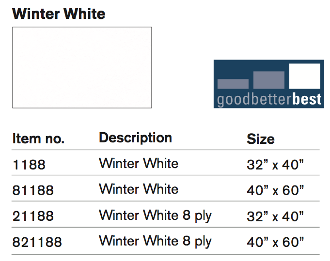 Winter White SKUs