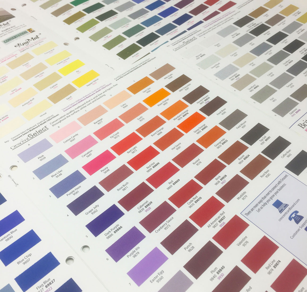 Crescent's huge selection of colors