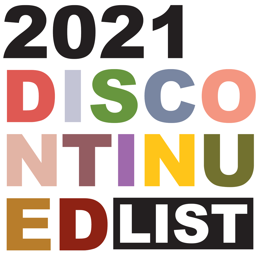 2021 Discontinued List