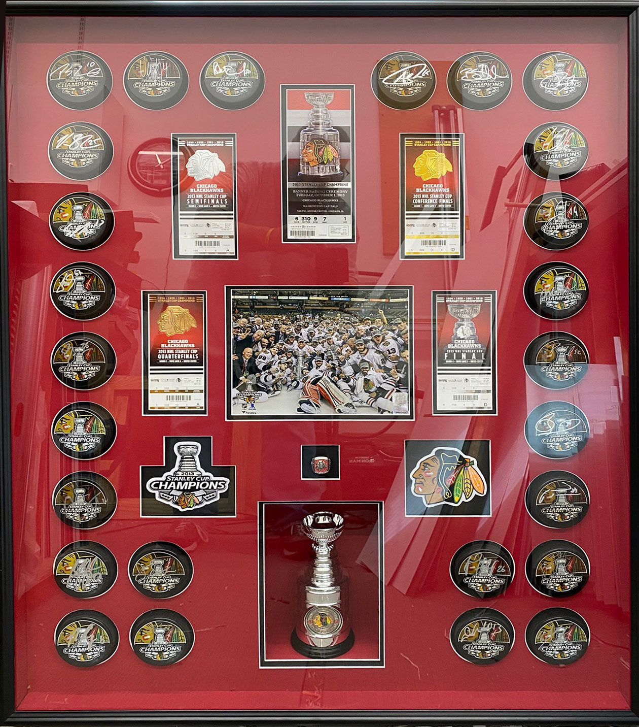 Blackhawk Pucks | Framed Sports Memorabilia