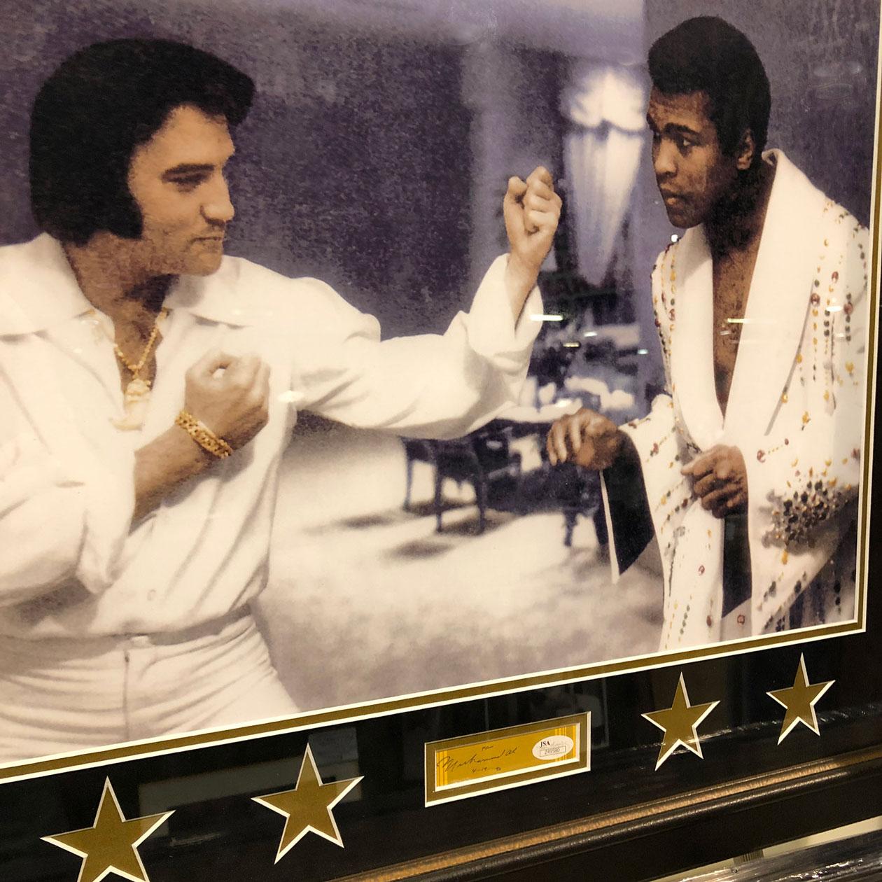 Elvis and Ali | Framed Sports Memorabilia