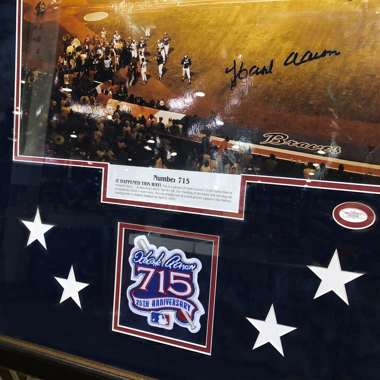 Hank Aaron | Framed Sports Memorabilia
