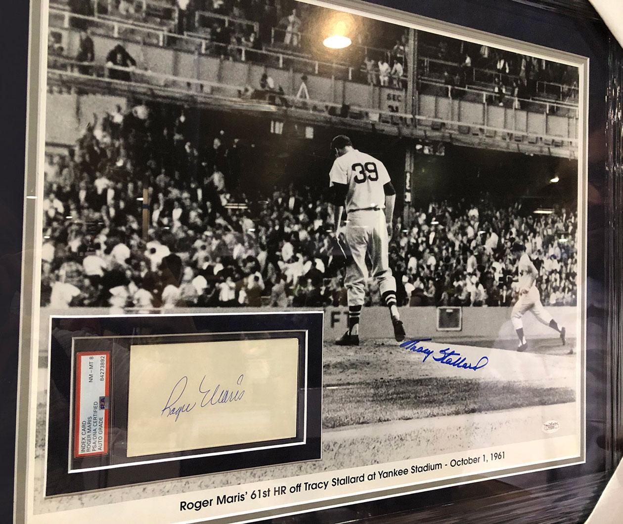 Maris Autograph | Framed Sports Memorabilia