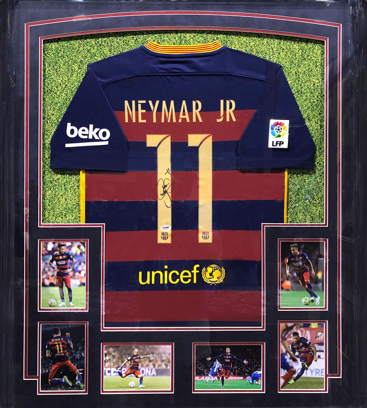 Neymar Jersey | Framed Sports Memorabilia